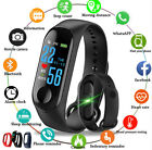 Bluetooth Smart Watch Pedometer Sleep Health Heart Rate Monitor For Android &IOS