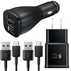 Original Samsung Galaxy S9 S8+ Note 8 9 Adaptive Fast Type C Cable & Car Charger