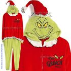*All Sizes* OFFICIAL THE GRINCH ONESY Guys Hooded Robe Primark Xmas Pyjamas Mens