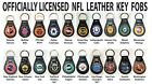 NFL TEAM LEATHER KEY FOB, OFFICIALLY LICENSED, 1/Ea <br/> NFL LEATHER KEY FOB! OFFICIALLY LICENSED!