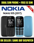 Nokia 105 (Dual) SIM Unlocked ( 2017 Edition ) Phone - 2 Colors with FREE EE SIM