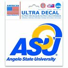 "Angelo State Rams Official NCAA 3"" x 4"" Automotive Car Decal 3x4 by  ..."