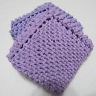 DISHCLOTH/WASHCLOTH, KNITTED, GRANDMA'S VINTAGE DESIGN, SET OF TWO