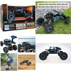 Remote Control Car 4Wd Off Road Rock Crawler Vehicle 2.4 Ghz, Blue