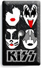 KISS SHOCK HARD ROCK HEAVY GLAM METAL BAND LIGHT SWITCH OUTLET PLATES ROOM DECOR