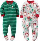 Внешний вид - Carter's Infant Boys Fleece Christmas Blanket Sleeper NWT  3M  6M 12M 18M or 24M