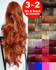 Clip in Hair Extension real Human Feel Plum Copper Brown Blonde Red Auburn Ash