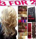 Hair Extensions Clip - in real Human Feel Ginger Brown Blonde Reds Copper Honey