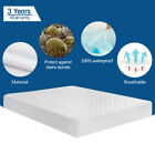 Quilted Mattress Pad Cover Protector Fitted Bed Sheet Topper Bug Dust Bedspread image