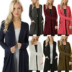 Plus Size Womens Long Sleeve Cardigan Oversized Casual Coat Sweater Jumper Tops