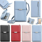 Small Phone Shoulder Bag Cross Body Purse Leather Strap Card Holder Wallet Case