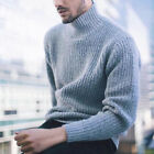 Usa Men s Winter Warm Cotton High Neck Pullover Jumper Sweater Tops Turtleneck