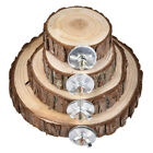 Parrot Pet Bird Round Wooden Hanging Stand Perch Platform Toy Cockatiel Funny