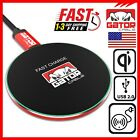 Qi Wireless Phone Fast Charger Charging Pad iPhone 8 11 X XR XS Max Galaxy S8 S9