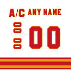 Calgary Flames 1980-94 White Jersey Customized Number Kit un-stitched $34.99 USD on eBay