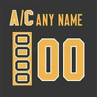 Pittsburgh Penguins 1988-1992 Black Jersey Customized Number Kit un-stitched $34.99 USD on eBay