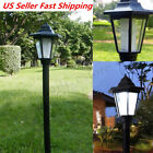 Solar Power LED Path Way Wall Landscape Garden Fence Lamp Post Outdoor Light US