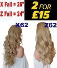 LIGHT HONEY Natural Long Curly Flick Layered Half Wig Womens Hair Piece
