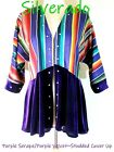 SILVERADO ~Mexican Serape/Purple Velvet Bottom~Cover Up Studded Jacket