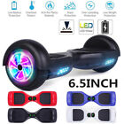 """6.5"""" LED Wheels Hoverheart Hoover boards Chrome Electric Self Balancing Scooter"""