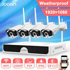 JOOAN Wireless 1080P P2P NVR 4x 1080P WIFI Security Camera System IR CUT 0~2T