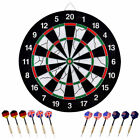 "18"" 6-12x Dart Board Double-Sided Dartboard Flocking Dartboard Professional"