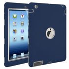 "For Apple iPad 4th Generation 9.7"" Tough Rubber Heavy Shockproof Hard Case Cover"