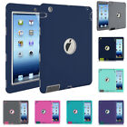"""For Apple iPad 4th Generation 9.7"""" Tough Rubber Heavy Shockproof Hard Case Cover"""
