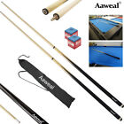 "58"" WOODEN SNOOKER BILLIARD POOL CUE SET 2x Two Piece Cues with Screw Tips Stick $23.59 AUD on eBay"