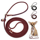 4ft Genuine Leather Slip Dog Lead Durable for Small Dog Chiwawa Pitbull Training