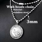 Norse Viking Nordic Runes Amulet Wolf Pendant Necklace Fashion Jewelry