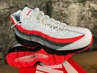 NIKE AIR MAX 95 ESSENTIAL WHITE BRIGHT CRIMSON BLACK 749766-112 MEN'S 8.5 to 10