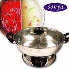 Shabu Shabu Hot Pot Electric Mongolian DIVIDER UL Approved safety Cooking Party