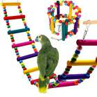 Bird Swing Parrot Climb Cableway Hamster Toy Bird Supplie Wood Ladders Harness