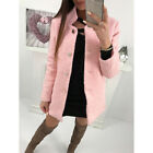 Damen Fleecejacke Blazer Strickjacke Cardigan Jacke Mantel Trenchcoat Outwear