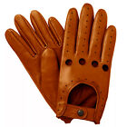 NEW MEN'S CHAUFFEUR  REAL LAMBSKIN SHEEP NAPPA LEATHER DRIVING GLOVES - TAN