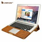 Jisoncase Leather Stand Cover Case For MacBook Air Pro Retina 11 12 13 15 inch