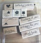 Stampin' Up Wood Mounted Sets You -You Choose- Phrases Floral Shapes