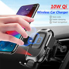 Baseus QI 15WWireless Charger Infrared Auto Clamping Car Mount Holder for iPhone