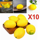 10pcs Faux Limes Lemons Foam Artificial Fruit Imitation Fake Fruit Home Decor