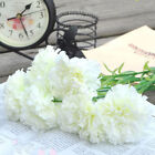 Artificial Fake Carnations Silk Flower Bridal Hydrangea Home Casual Usable