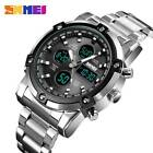 SKMEI Mens Digital Watch Fashion Sports Countdown Stainless Steel Men Wristwatch image