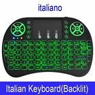 7 color backlit i8 Mini Wireless Keyboard 2.4ghz English Russian 3 colour Air