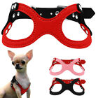 Soft Suede Leather Step-in Dog Harness for Puppies Small Dogs Chihuahua Yorkie