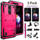 For LG K30 / Xpression Plus / Premier Pro LTE Shockproof Rubber Armor Case Cover