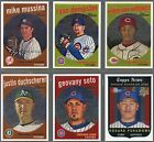 2008 Topps Heritage Baseball High Series Chrome Cards C203-C251 (You Choose )
