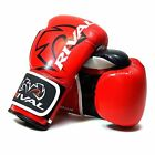 Rival RB7 Fitness Bag Training Gloves Boxing Red Black Elite Bag Mitts Pads
