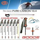 2020 Goode Pure Carbon Fiber Ski Poles Adjustable Length Grip Free Ski Straps