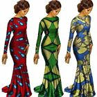 Plus Size African Prints Dashiki Maxi Dresses for Women