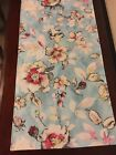Floral pattern Spring-Summer Handmade Table Runner. White, red, yellow flowers